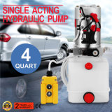 4 rimorchio a semplice effetto del deposito della pompa idraulica 12V del bacino idrico di quarto