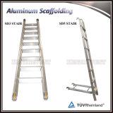 Ремонтина двойной ширины алюминиевая передвижная с лестницей