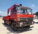 Le camion de roues de Dongfeng LHD 6 a monté avec la grue de 5 T à vendre