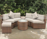 Conjunto de muebles de jardín de ratán al aire libre y muebles de patio