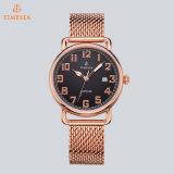 OEM van de fabriek het Roestvrij staal nam Gouden Horloge voor Mensen 72164 toe