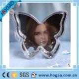 Esfera acrílica da água da forma da flor de globo da neve do frame da foto