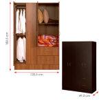 El MFC laminado melamina arropa el guardarropa de madera de la cabina de almacenaje (HX-DR322)