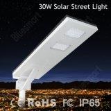 Lâmpada solar ao ar livre do diodo emissor de luz de 3900 lúmens com painel solar