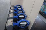 Válvula de borboleta Ductile da bolacha do ferro com atuador pneumático (D671X-10/16)