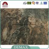 Pavimentazione commerciale durevole del vinile del grano del marmo del nero di uso