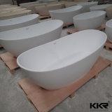 Vasca da bagno indipendente di superficie solida degli accessori della stanza da bagno di Sanitaryware
