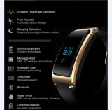 電話Bluetoothの人間の特徴をもつスマートな腕時計情報処理機能をもったパートナーの腕時計の電話(黒)