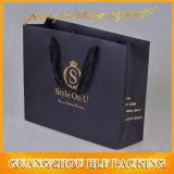 De afgedrukte Zwarte het Winkelen van het Document Verpakkende Zak van de Gift
