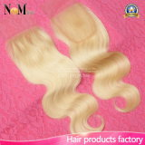 Chiusura del merletto dei capelli di Ombre dei capelli umani del Virgin per le ragazze di modo