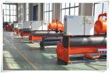 refrigerador de refrigeração água do parafuso de Industria da eficiência elevada de 440kw 440wsm4 para a máquina expulsando do PVC