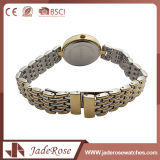 Lady Mineral Cristal Acero inoxidable impermeable reloj
