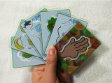 Jogo de cartão dos cartões de jogo do PVC de Transparant