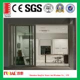 Дверь европейского стандарта алюминиевая с стеклом высокого качества