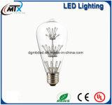 MTX 도매 다채로운 LED 전구 Edison 전구 창조적인 나무 또는 아기의 흡입 포도 수확 ST64 E27 LED 전구