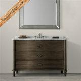Gabinete curvado do banho do estilo da porta do banheiro do dissipador de Fed-1676b 48inch única vaidade moderna