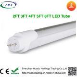 10W 16W 22W 36W 45W choisissent le tube de rechange DEL T8 de lampe fluorescente d'extrémité