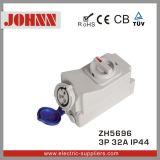 IP44 3p 32A Kontaktbuchse mit Schaltern und mechanischem Sicherheitskreis