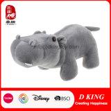 박제 동물 장난감 회색 견면 벨벳 하마를 서 있는 새로운 디자인