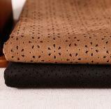 가정 직물 실내 장식품을%s 소파를 위한 100%년 폴리에스테 Laser 펀치 Microfiber 스웨드 직물
