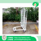 U-Shaped складная вагонетка клетки для товаров хранения с Ce