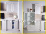 Armadio da cucina bianco del MDF della membrana del PVC del classico