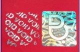 Anti-Falsificando a etiqueta holográfica da etiqueta circular de papel holográfica da etiqueta - logotipo do laser 3D