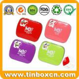 正方形および長方形の真新しい錫ボックス、キャンデーの缶、ヒンジ、食品包装のための金属の錫の箱が付いているお菓子屋の錫