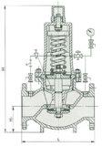Tipo valvola di riduzione della pressione unita di Y46t (PRV)