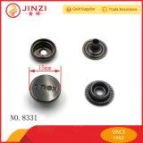 Bouton Snap en forme de métal de haute qualité personnalisé du fabricant chinois