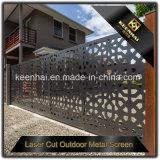Подгонянные отрезанные лазером напольные панели экрана листа металла для загородки сада