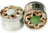 Moedor do fumo da liga do zinco do moedor do tabaco do metal de 3 camadas