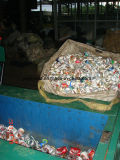 Kleine Metalballenpresse für verwendete Getränkedosen-Presse