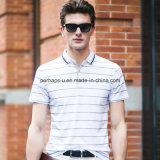 A alta qualidade listrou a roupa do golfe do desgaste dos esportes da camisa de polo dos homens de negócio