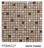 Смешанная мозаика камня природы строительного материала дома цвета (FYSMG127)