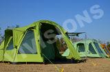 Tenda di campeggio gonfiabile portatile della tenda del salone delle 2 camere da letto 1