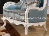 Salón Sofá / Madera Sofá / sofá de estilo europeo / clásico Sofá / Media-sofá de cuero Sq013