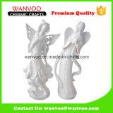 Houder van de Kaars van de Engel van het Paar van het Steengoed van de vakantie de Mooie voor het Ornament van het Huis