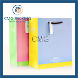 O papel ensolarado da forma carreg o saco com corda do punho para o presente (DM-GPBB-077)