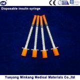 바늘 (ENK-YDS-001)를 가진 의학 처분할 수 있는 0.3cc/0.5cc/1cc 인슐린 주사통