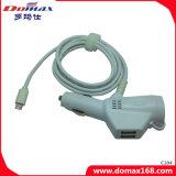 Les accessoires de téléphone mobile ont câblé le chargeur duel d'adaptateur de véhicule d'USB avec la ligne