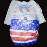 Tecido descartável personalizado OEM do bebê da faixa do algodão do estilo das cuecas