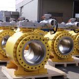 Les tailles importantes en acier modifiées ont bridé robinet à tournant sphérique d'exécution de vitesse d'extrémité
