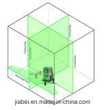 Линии луча 5 зеленого цвета вкладыша лазера Rorating 360 градусов сопрягаемые с креном силы