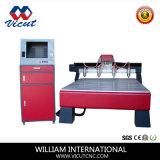 Гравировальные станки машинного оборудования CNC Woodworking Multi-Головок плоские