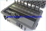 Telefono mobile dell'emittente di disturbo da tavolino del segnale con l'emittente di disturbo di WiFi, emittente di disturbo portatile di Lojack dello stampo dell'emittente di disturbo del segnale del telefono mobile di GPS WiFi 3G 4G