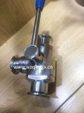 304 / 316L do aço inoxidável Sanitária Three Way Ball Valve Clamped