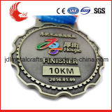 Il nuovo disegno mette in mostra la medaglia d'ottone professionale di maratona della medaglia