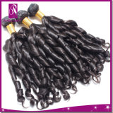 Cabelo espiral preto natural do Indian da onda