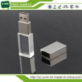 USB del cristallo 3D con il marchio del laser